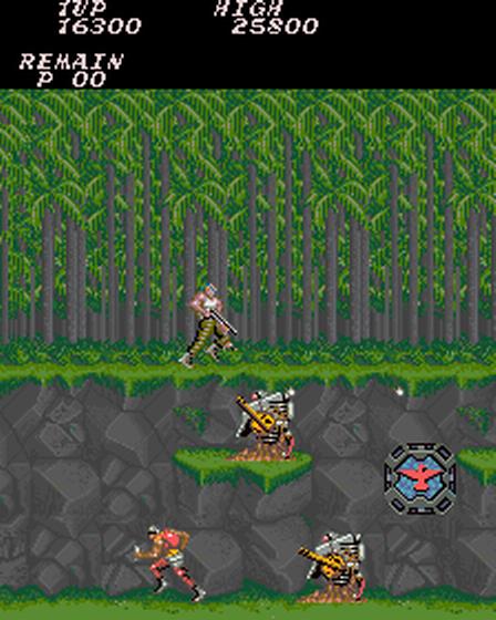 1987, Gryzor (oryginalnie Contra), Konami
